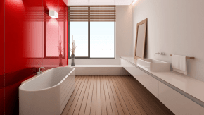 Award-Winning Rouge in Stunning Bathroom